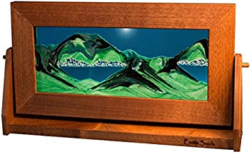 Exotic Sands - Md12 Medium Alder Frame (Summer Turquoise) American Made Quality Sand Pictures! Amazing Moving Sand Art. Oprah's Favorite Things 2015. Voted Best Men's Present.