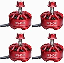 4pcs RacerStar Fire Edition 2406 2600kV 2-4S Brushless Motor for 250 Racing Drones (CW Thread Adapter)