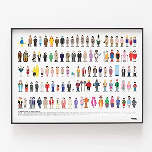 La Majorette À Moustache - Affiche Vestiaire des Célèbres Films Comiques - 50 cm x 70 cm - Livrée dans Un Tube Protecteur en Carton (53 cm x 6 cm) pour Les Amateurs de Cinéma