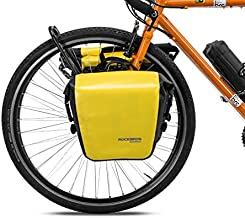 ROCKBROS Front Roller Panniers Bag Front Rack Bike Bag Durable Shelf Package with Carrying Handle & Free Shoulder Strap for Touring Picnic Commuting 1 Pair