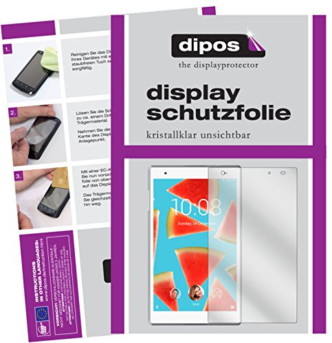 dipos I 2x Screen Protector compatible with Lenovo Tab4 8 TB-8504F Protection Films clear
