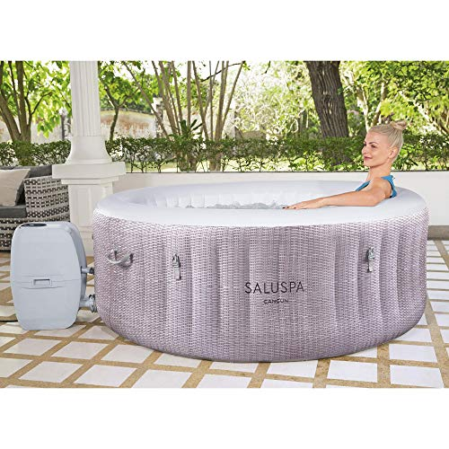Bestway SaluSpa 71 x 26 Inch 2 to 4 Person Outdoor Inflatable Portable Cancun AirJet Hot Tub Pool Spa with Cover, Pump, and Filter