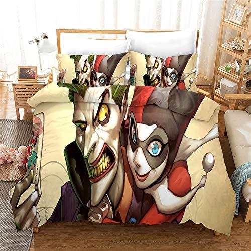 Juego de Sábanas Otaku Ropa de Cama; Ropa de Cama 100% Microfibra Personajes de Anime 3D Impresión 3D 1 Duvet Cover & 2 Pillow Shams Personalice Adolescentes y Fan de Anime Ropa de Cama para el hogar
