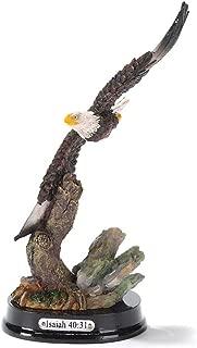 Dicksons Soaring Eagle Over Rocks Isaiah 40:31 Decorative 6 inch Resin Stone Figurine