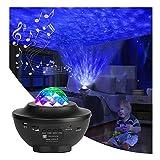Proyector De Luz De Estrella Galaxy 2 En 1 Galaxy Projector Light Ocean Wave Proyector con Bluetooth USB Disco Música Altavoz Ajustable Sky Brightness & Colour Remote Control Led Spectra Light