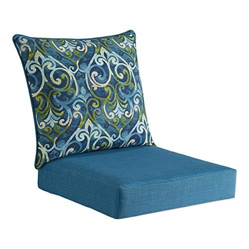 Garden Treasures 2-Piece Salito Marine Deep Seat Patio Chair Cushion