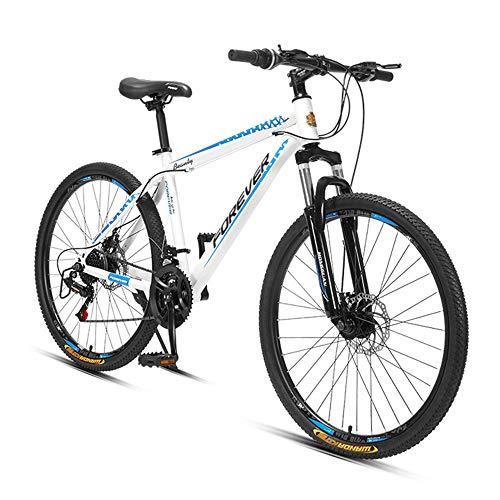 Bicicleta de montaña, bicicleta con freno de disco doble, bicicleta de carretera, ruedas de 26 pulgadas, engranaje de 24 velocidades, altura del asiento ajustable, disponible para hombres/mujer