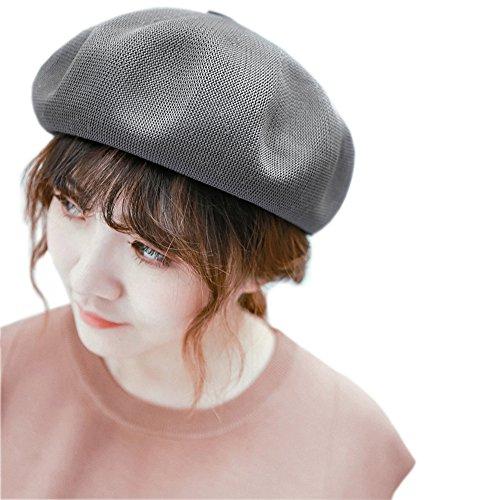 [モニコ] ベレー レディース 帽子 サマーベレー 無地 ベレー帽 春夏 ポリ 素材 赤 黒 白 bl7001x-cg