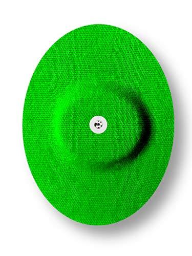 FixTape atmungsaktives Sensor-Tape für Freestyle Libre 1 & 2 I selbstklebendes Patch für Glukose-Sensor mit hohem Trage-Komfort I hautfreundlich und wasserfest in modernen Designs I 7 Stück (Grün)