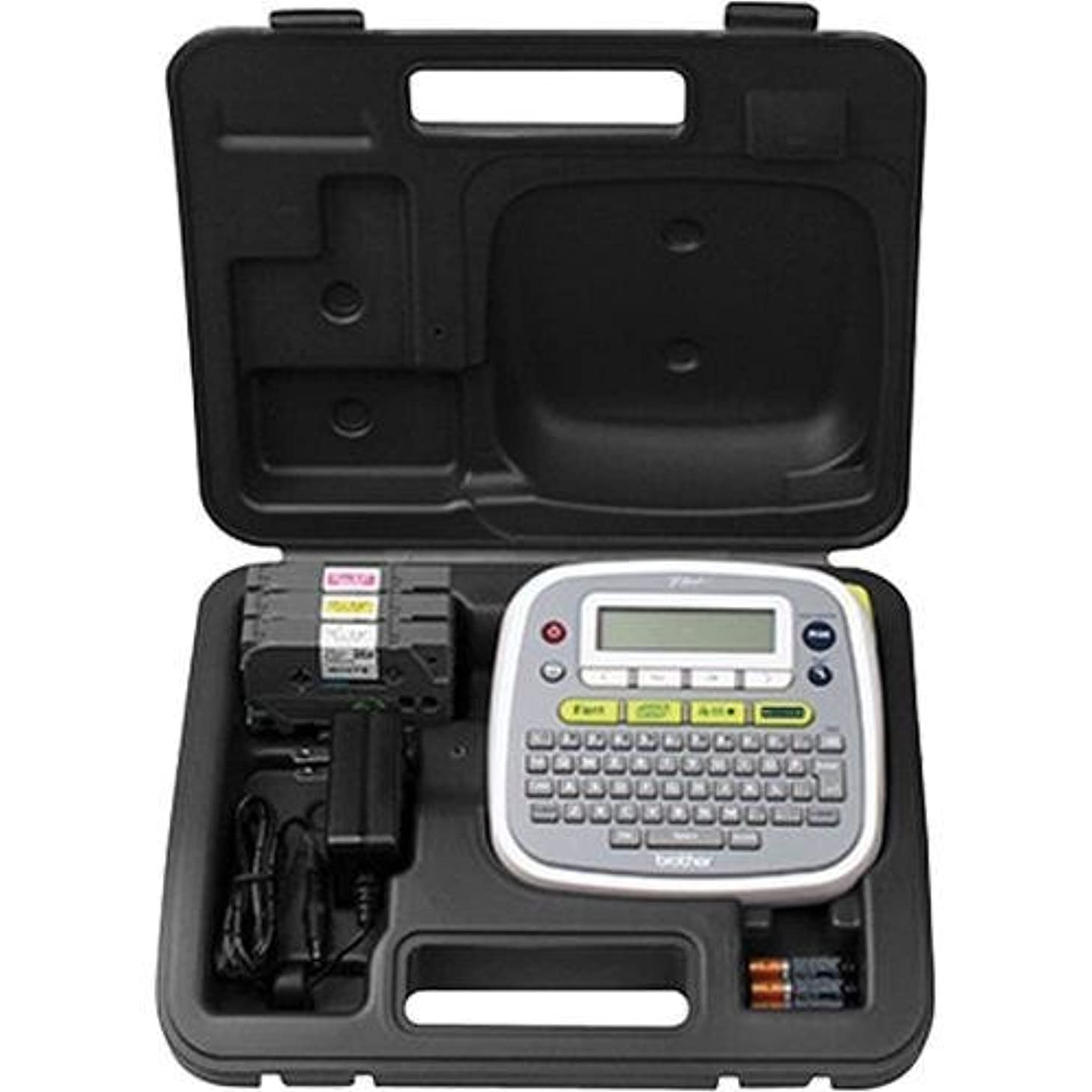 Brother CCD200 Carrying Case Label Printer, Power Adapter, Battery - Black