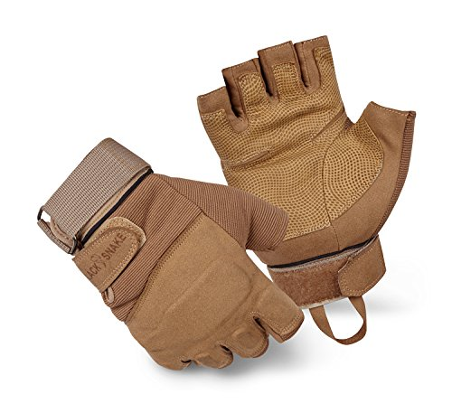 Taktische Herrenhandschuhe FINGERLOS Fahrradhandschuhe Motorrad Handschuhe outdoor sport Handschuhe Fitness Handschuhe Army Gloves Ideal für Airsoft, Militär,Paintball,Airsoft, Jagd Coyote XL