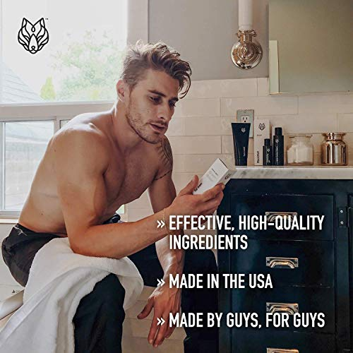 Mens Body Wash With Activated Charcoal by Black Wolf Nation - 10 Fl Oz - Activated Charcoal and Salicylic Acid Reduce Acne Breakouts and Removes Unwanted Toxins From Your Skin (1 Pack)