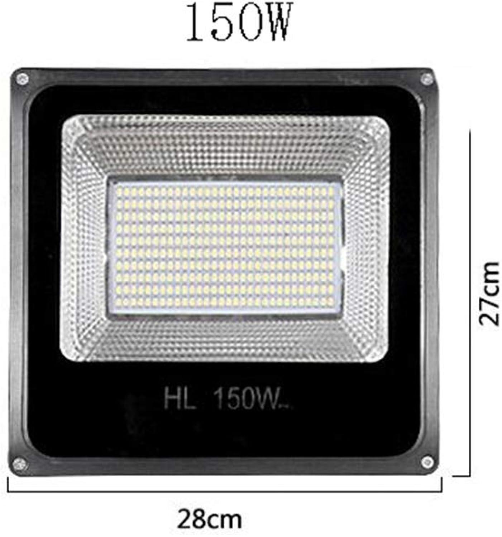 Q-floodlightS Csndice Home LED-Flutlicht Wasserdichte und explosionssichere Scheinwerfer Outdoor Security Light Courtyard Site Engineering Straenlaterne IP65 66 (gre   150W)