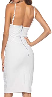 Women's Leather Dress Faux Leather Sleeveless Suspenders Pencil Dress Sexy Mini Dress Halter Party Nightdress Overbust Cor...
