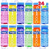 JOYIN 24 4oz Bubble Bottles with Wand Assortment for Kids, Bubble Blower for Bubble Blaster Party Favors, Summer Toy, Birthday, Outdoor & Indoor Activity, Easter