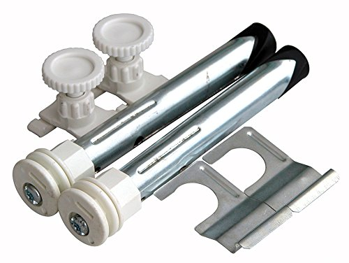 Sanitop-Wingenroth 27520 0 Vlakke radiator, boorconsole-bevestigingsset voor radiatoren met ophanglussen, 120 mm