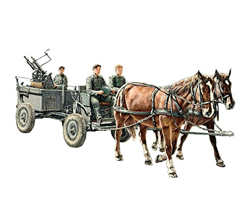 Riich Models rv35012 – Figurine de WWII German If 5 Horse Drawn MG Wagon avec ZWILLING Lafette 36