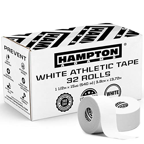 Hampton Adams (32 Pack) White Bulk Athletic Tape - 1.5