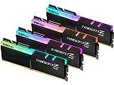 G.SKILL 128GB (4 x 32GB) TridentZ RGB Series DDR4 PC4-25600 3200MHz Intel XMP 2.0 Desktop Memory Model F4-3200C16Q-128GTZR