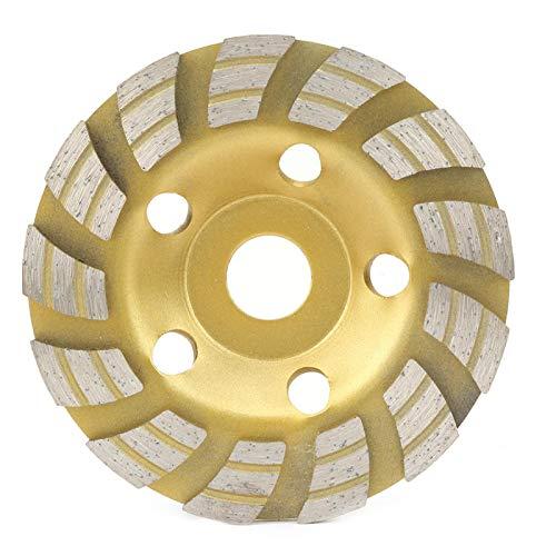 Muela abrasiva 125 * 22,2 mm Disco de corte de taza de muela abrasiva de segmento de diamante para hormigón Mármol Granito