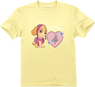 Official Paw Patrol Skye 4th Birthday Toddler Kids T-Shirt