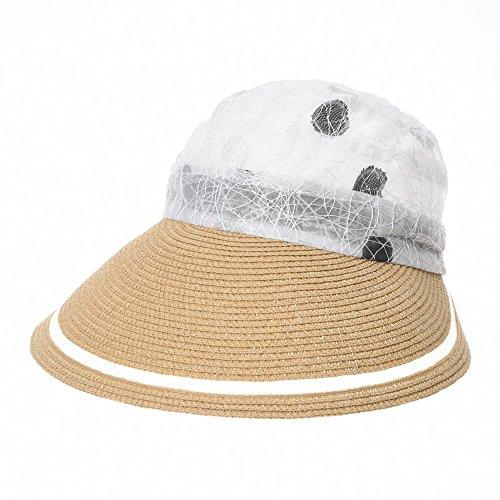womens novelty sun hats WITHMOONS Womens Summer Sun Visor Cap Packable Beach Hat SLH1042
