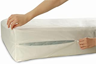 Allersoft sängöverkast, dammkvalster och allergikontroll madrassskydd av 100% bomull, 70 x 140 x 10 cm