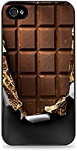 Popular Funny and Unique Wrapped Chocolate Candy Bar Black Silicone Case for iPhone 5 / 5S