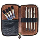 MstrSktch Mechanical Drawing Pencils for Artists - Set 8pc Leather