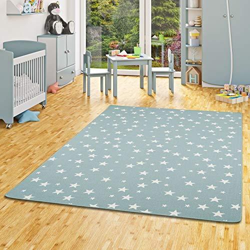 Snapstyle Kinder Spiel Teppich Sterne Mintgrün in 24 Größen