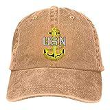 HSRB Us Navy CPO Chief Petty Officer Casquette de Sport Unisexe à la Retraite Denim Peak Dicer