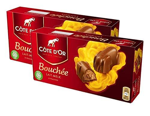 Cote d'Or Bouchee Lait, confezione da 2, 2x200g (16x25g)