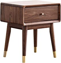 Black Walnut Storage Cabinets All Solid Wood Bedside Tables Bedroom Furniture All Solid Wood Round Legs Environmental Prot...
