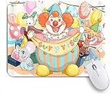 SIONOLY Mauspad - Clown Animal Jonglier Supprise Ballon - Gaming und Office rutschfeste Gummibasis Mauspads,240×200×3mm