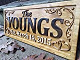 Personalized Family Name Sign Wedding Gift...
