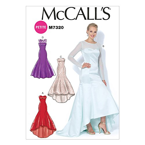 McCall's Patterns M7320 Misses'/Miss Petite Mermaid-Hem and High-Low Dresses, Size A5 (6-8-10-12-14)