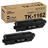 TK1162 TK-1162 1T02RY0US0 (Black,2 Pack) Toner Cartridge Replacement for Kyocera ECOSYS P2040 P2040DW P2040DN Toner Kit Printer