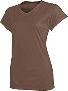 Champion Women's Short Sleeve Double Dry Tee Shirt, Army Brown, Small