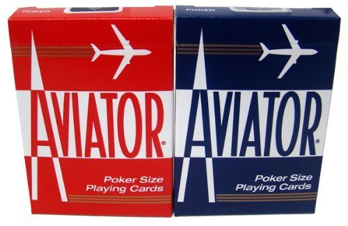 Quality Aviator Casino Playing Cards - 2 Decks