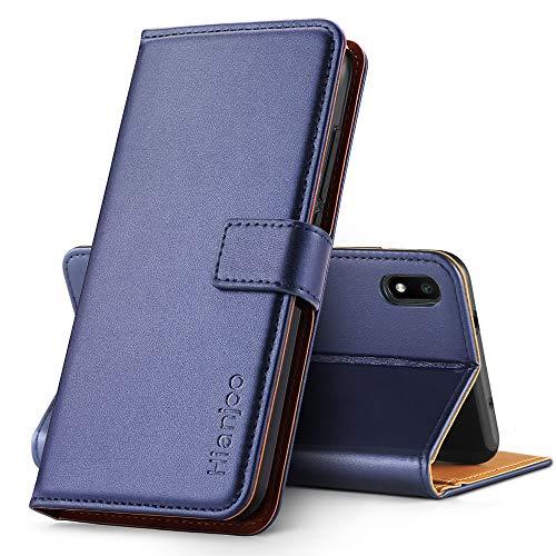 Hianjoo Funda Compatible con Xiaomi Redmi 7A, Suave PU Cuero Carcasa con Flip Case Cover, Cierre Magnético, Función de Soporte, Billetera con Tapa Tarjetas Compatible con Redmi 7A, Azul