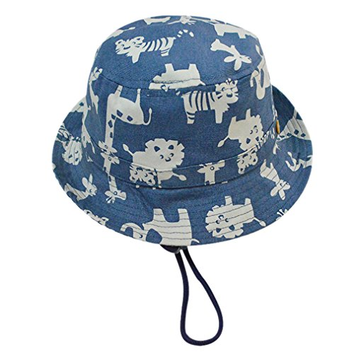 Cloud Kids Sonnenhut Baby UV-Schutz Fischerhut Kappe Sommerhut Tierdruck Hut Freizeithut Blau 54