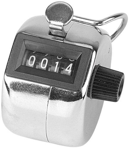 infactory Einhandzähler: Handzähler aus Metall (Handzählgerät)
