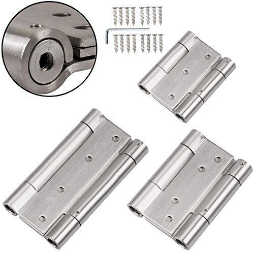 2 EDELSTAHL Pendeltürbänder H: 100 mm // mit SoftClosing // Schwingtür Pendeltürscharnier Türband Scharnier Pendel