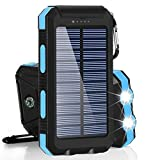 Solar Power Bank 20000mAh For Xiaomi External Battery Charger Mobile Phone Charging Flashlight