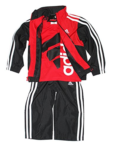Adidas Boys 3-piece Athletic Windsuit, Bright Red, 4T