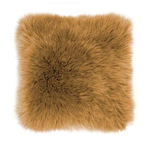 Sierkussen - Fluffy - Okergeel - 45 x 45 cm - Vierkant van Tiseco Home Studio