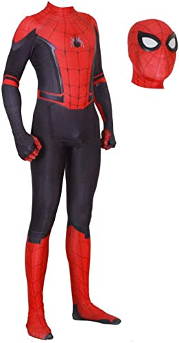 ventas de salida Spider-Man Adulto Niño del Vestido Traje Fiesta De Halloween Halloween Halloween Cosplay Props Spandex Máscara Suave Ultra Transpirable Printed Jumpsuit,Adult-L  venta al por mayor barato