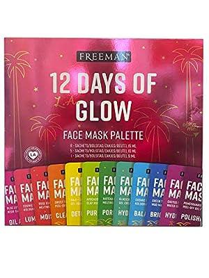 Freeman Glow On 12 Days of Glow Mini Mask Advent Calendar Gift Set from Paris Presents