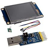 Nextion Display 4.3 inch NX4827T043 Resistive Touch Screen HMI TFT UART LCD Module 480x272 + CP2102 USB to TTL Adapter Serial Module for Arduino Raspberry Pi