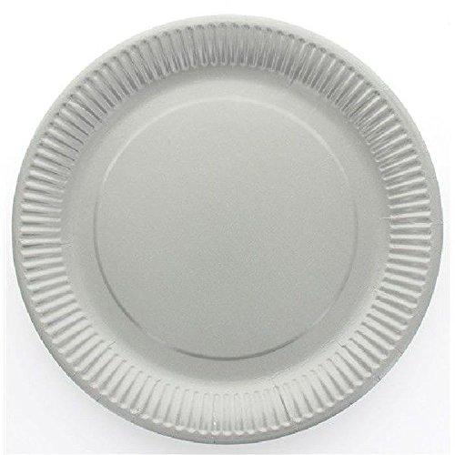 Assiette jetable X10 - gris diam 23 cm